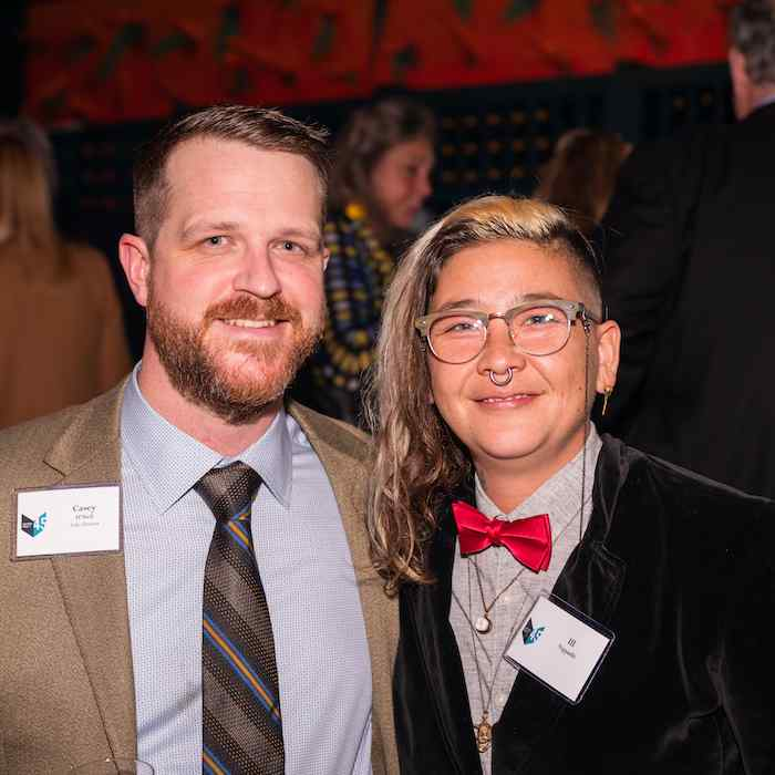 Graywolf sales director Casey O'Neil and 2018-2019 Citizen Literary Fellow Ill Nippashi-Hoereth