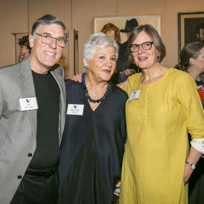 Graywolf supporters and Fiona McCrae at the Graywolf Literary Soiree in May 2019