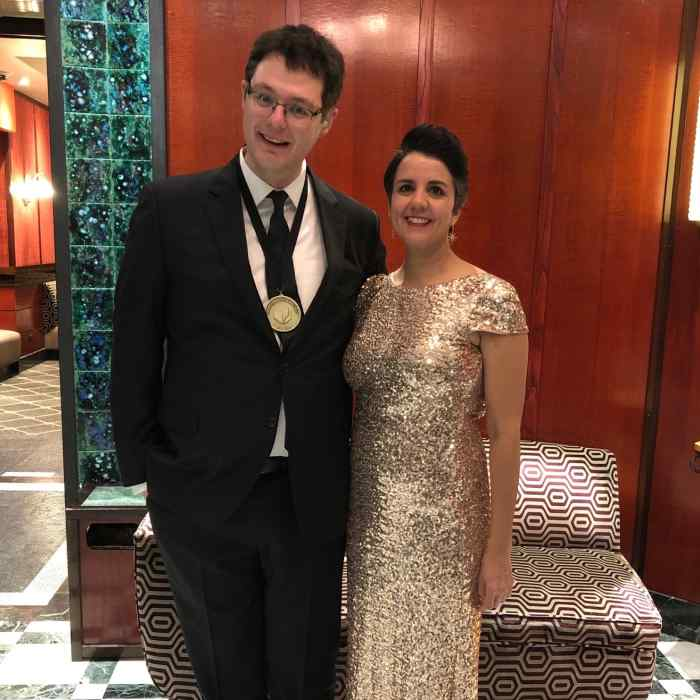 Ilya Kaminsky and Carmen Giménez Smith at 2019 National Book Awards