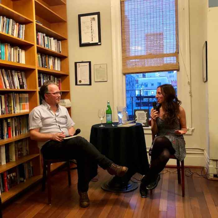 Ethan Nosowsky and Susan Steinberg at City Lights in San Francisco