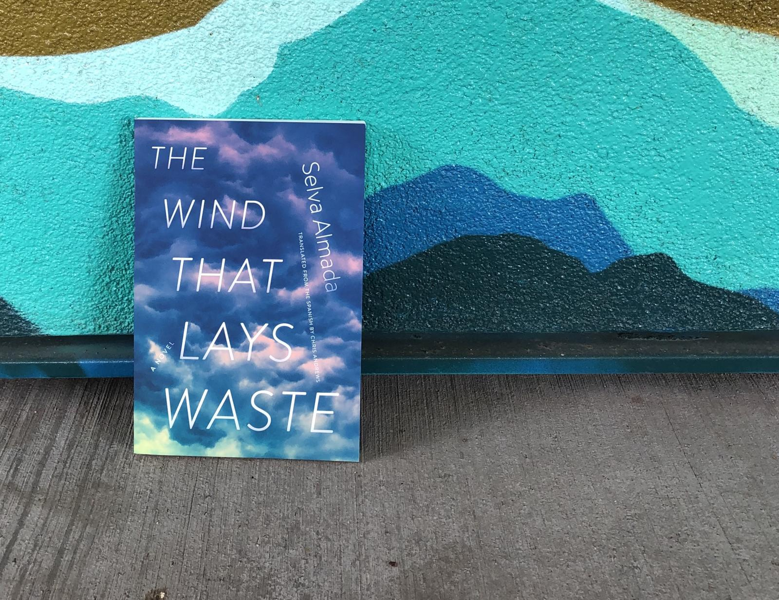 The Wind That Lays Waste blue mural
