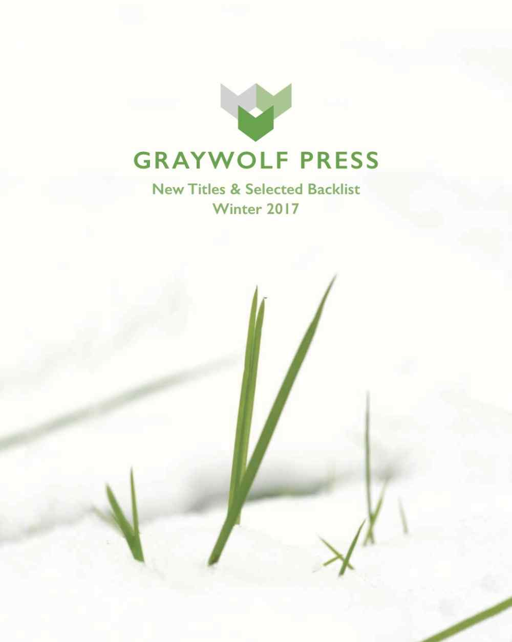 Winter 2017 Graywolf Catalog Cover