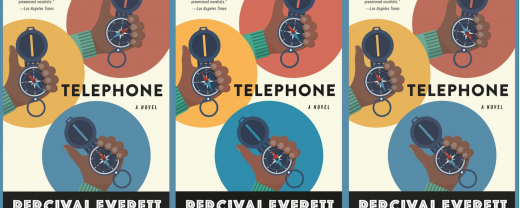 image of three alternate cover versions of TELEPHONE by Percival Everett